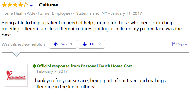 Personal Touch Home Care reviews 2