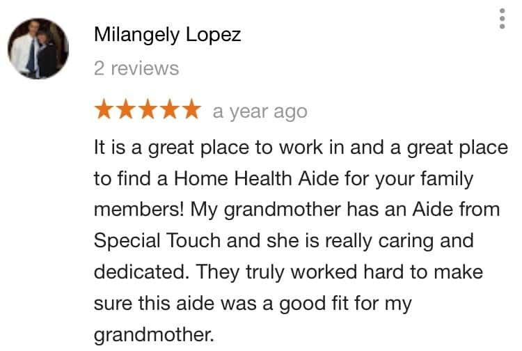 Special Touch Home Care reviews 1