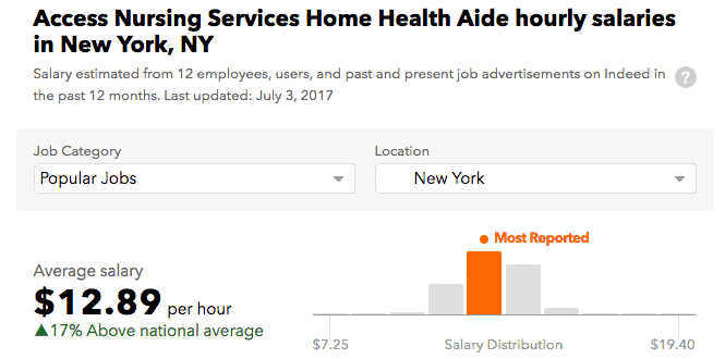 Access Nursing Services New York salary