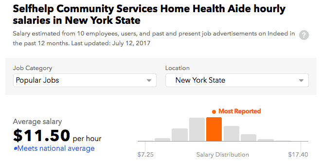Selfhelp Community Services salary