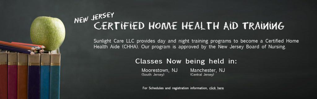 CHHA classes online at Sunlight Care
