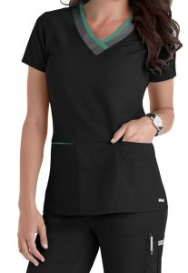 womens scrub top with pockets